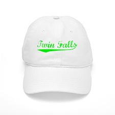 Vintage Twin Falls (Green) Baseball Cap