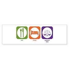Eat Sleep Patent Law Bumper Bumper Sticker