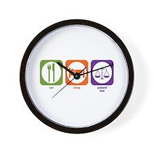 Eat Sleep Patent Law Wall Clock
