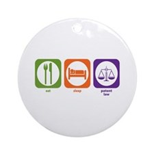 Eat Sleep Patent Law Ornament (Round)