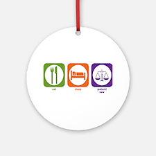 Eat Sleep Patent Law Ornament (Round)