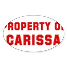 Property of CARISSA Oval Decal