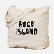 Rock Island Faded (Black) Tote Bag