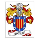 Cortes Family Crest Small Poster