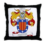 Cortes Family Crest Throw Pillow