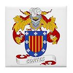 Cortes Family Crest Tile Coaster