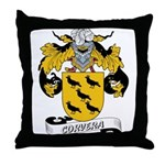 Corvera Family Crest Throw Pillow