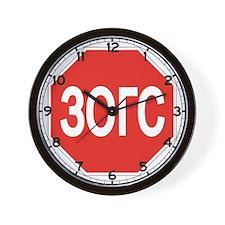 Stop, Mongolia Wall Clock