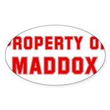 Property of MADDOX Oval Decal