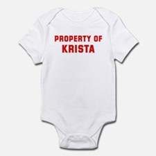 Property of KRISTA Infant Bodysuit