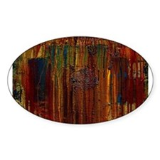 ABSTRACT PAINTING ~ Gasoline I: Oval Decal