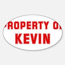 Property of KEVIN Oval Decal