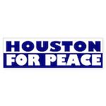 Houston for Peace (bumper sticker)