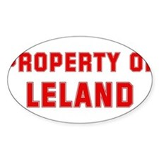 Property of LELAND Oval Decal