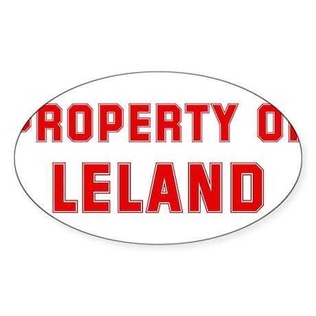 Property of LELAND Oval Sticker