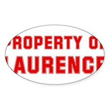 Property of LAURENCE Oval Decal