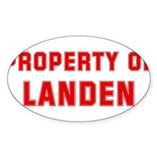 Property of LANDEN Oval Decal