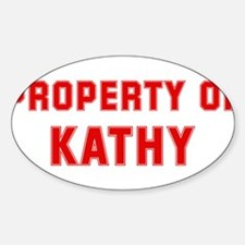 Property of KATHY Oval Decal