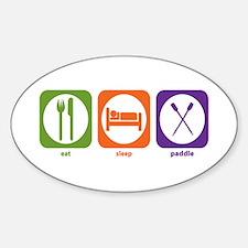 Eat Sleep Paddle Oval Decal