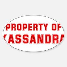 Property of KASSANDRA Oval Decal