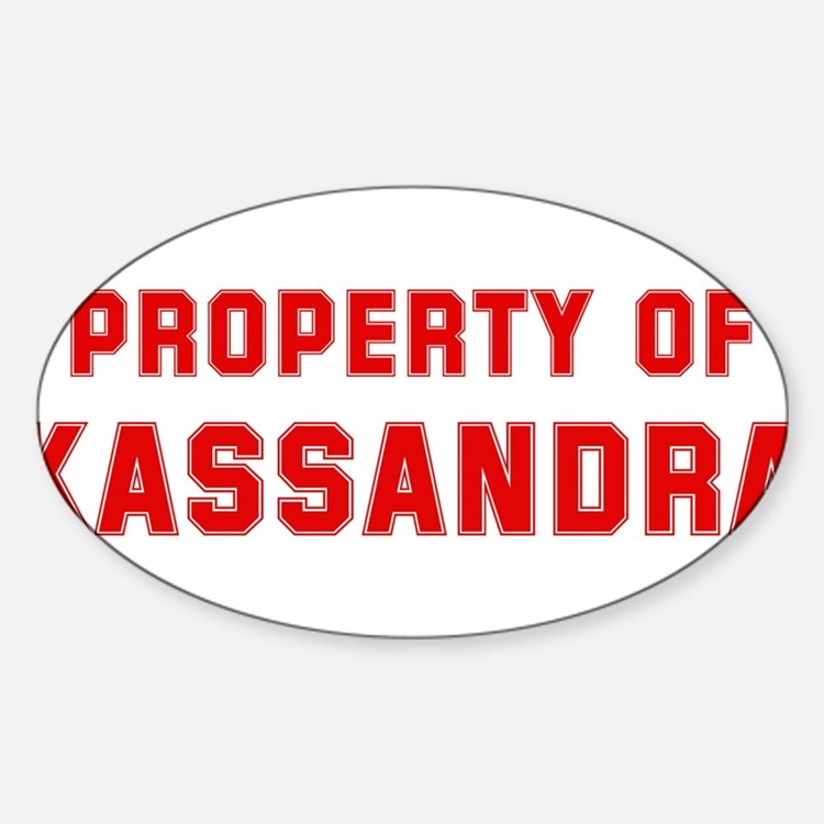 Property of KASSANDRA Oval Decal