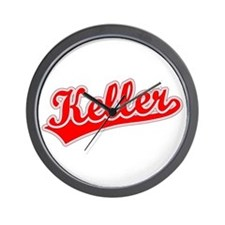 Retro Keller (Red) Wall Clock