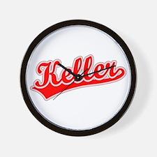 Retro Keller (Red) Wall Clock