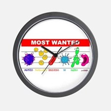 Most Wanted Poster Wall Clock