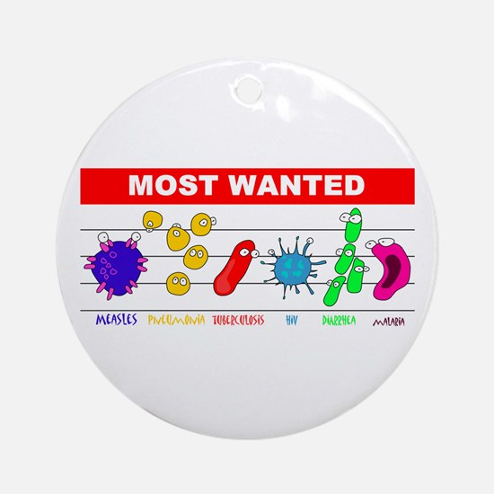 Most Wanted Poster Ornament (Round)