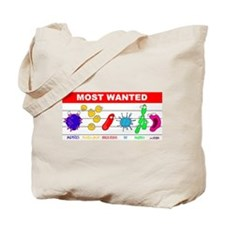 Most Wanted Poster Tote Bag