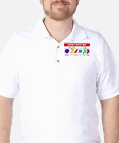Most Wanted Poster Golf Shirt