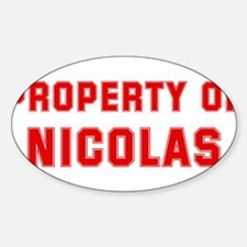 Property of NICOLAS Oval Decal