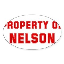 Property of NELSON Oval Decal