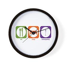 Eat Sleep Osteopathy Wall Clock