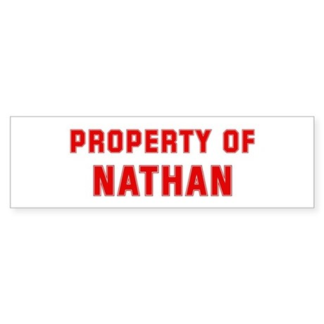 Property of NATHAN Bumper Sticker
