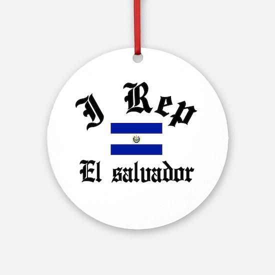 I rep El salvador Ornament (Round)
