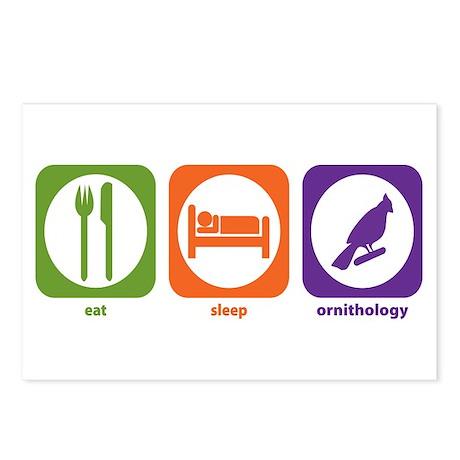 Eat Sleep Ornithology Postcards (Package of 8)