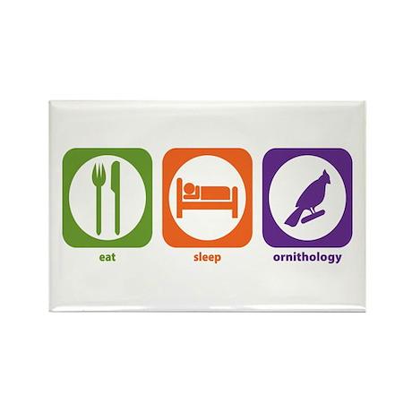 Eat Sleep Ornithology Rectangle Magnet (100 pack)