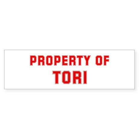 Property of TORI Bumper Sticker