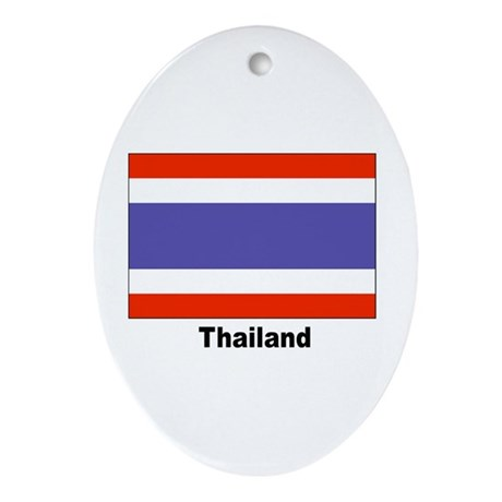Thailand Thai Flag Keepsake (Oval)