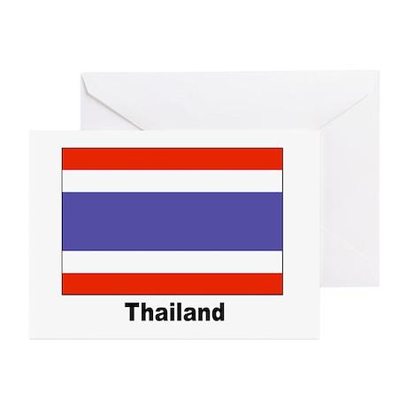 Thailand Thai Flag Greeting Cards (Pk of 10)