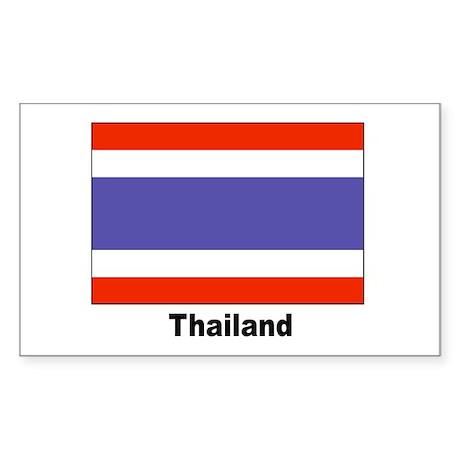 Thailand Thai Flag Rectangle Sticker