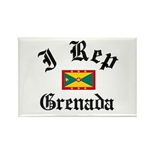I rep Grenada Rectangle Magnet