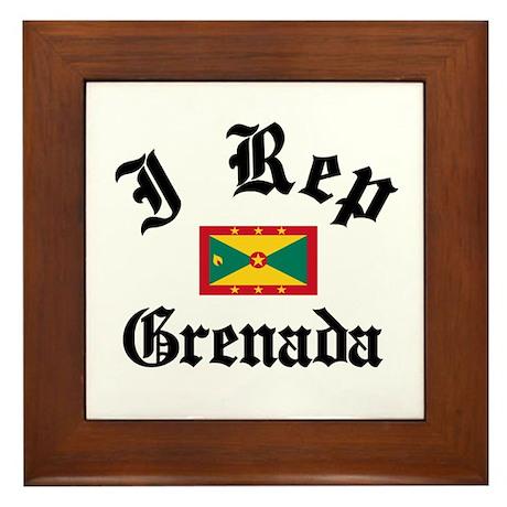 I rep Grenada Framed Tile