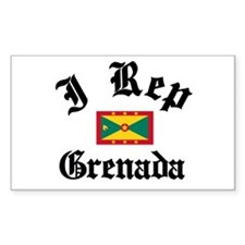 I rep Grenada Rectangle Decal