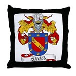 Curiel Family Crest Throw Pillow
