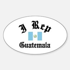 I rep Guatemala Oval Decal