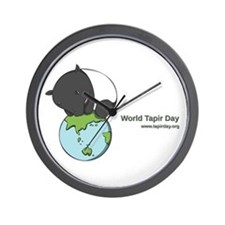 Wall Clock: 'Tapir on World'