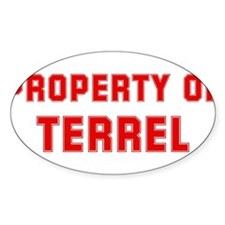 Property of TERREL Oval Decal