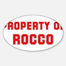 Property of ROCCO Oval Decal